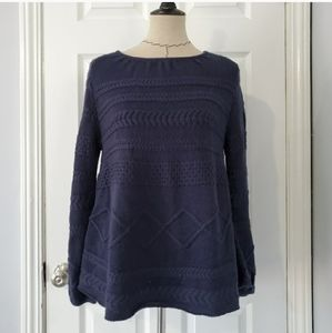 Ba&sh Moody Pullover Mixed-Knit Sweater in